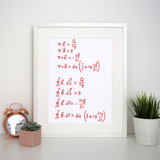 Physics formula print poster wall art decor - Graphic Gear