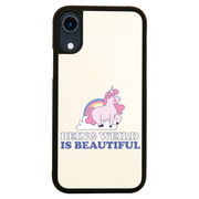 Being weird unicorn iPhone case cover 11 11Pro Max XS XR X