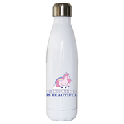 Being weird unicorn water bottle stainless steel reusable