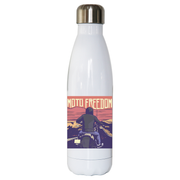 Motorbike freedom water bottle stainless steel reusable - Graphic Gear