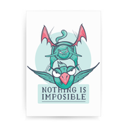 Nothing is impossible print poster wall art decor