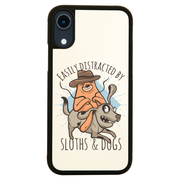 Sloth riding dog iPhone case cover 11 11Pro Max XS XR X - Graphic Gear
