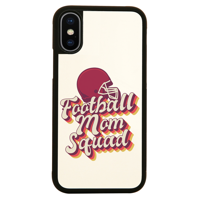 Football mom squad iPhone case cover 11 11Pro Max XS XR X - Graphic Gear