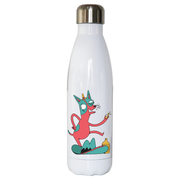Drunk chihuahua water bottle stainless steel reusable - Graphic Gear