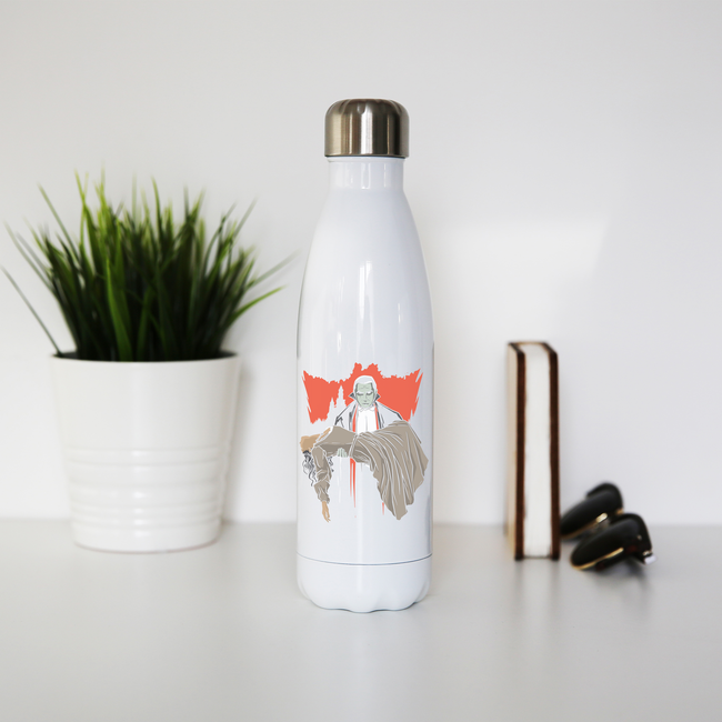 Dracula and woman water bottle stainless steel reusable - Graphic Gear