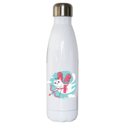Cupid cat water bottle stainless steel reusable - Graphic Gear