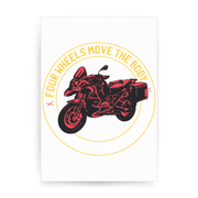 Two wheels quote print poster wall art decor