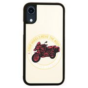 Two wheels quote iPhone case cover 11 11Pro Max XS XR X