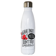 Meow quote water bottle stainless steel reusable - Graphic Gear