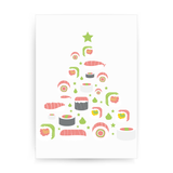 Sushi christmas tree print poster wall art decor - Graphic Gear