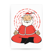 Meditating santa claus print poster wall art decor - Graphic Gear