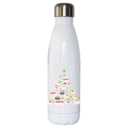 Sushi christmas tree water bottle stainless steel reusable - Graphic Gear
