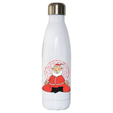 Meditating santa claus water bottle stainless steel reusable - Graphic Gear