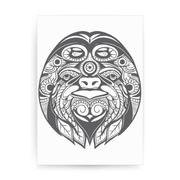 Ornamental sloth print poster wall art decor - Graphic Gear
