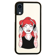 Tattooed girl iPhone case cover 11 11Pro Max XS XR X - Graphic Gear