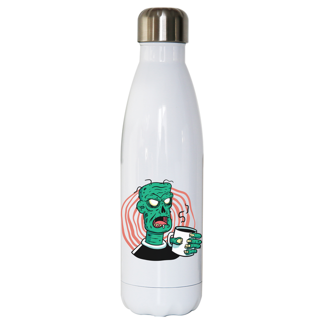 Coffee zombie water bottle stainless steel reusable - Graphic Gear