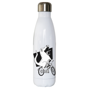Biker dinosaur water bottle stainless steel reusable - Graphic Gear