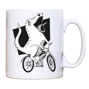 Biker dinosaur mug coffee tea cup - Graphic Gear