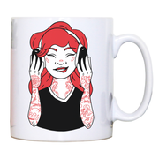 Tattooed girl mug coffee tea cup - Graphic Gear