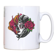 Mexican fire girl mug coffee tea cup - Graphic Gear