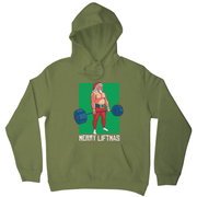Merry liftmas funny gym Christmas hoodie - Graphic Gear