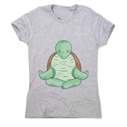 Yoga turtle funny women's t-shirt
