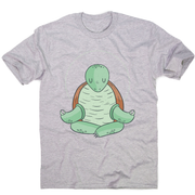 Yoga turtle funny men's t-shirt