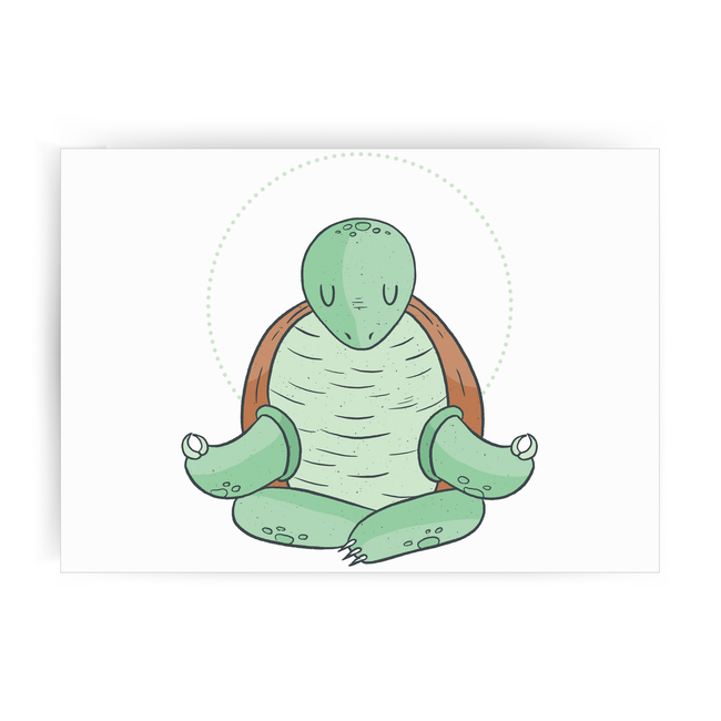 Yoga turtle funny print poster wall art decor - Graphic Gear