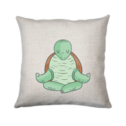 Yoga turtle funny cushion cover pillowcase linen home decor