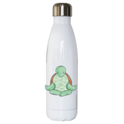 Yoga turtle funny water bottle stainless steel reusable - Graphic Gear