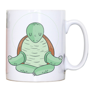 Yoga turtle funny mug coffee tea cup