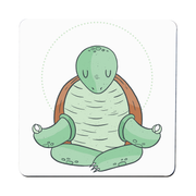 Yoga turtle funny coaster drink mat