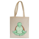 Yoga turtle funny tote bag canvas shopping