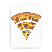 Wifi pizza food print poster wall art decor