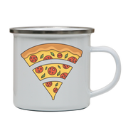 Wifi pizza food enamel camping mug outdoor cup colors