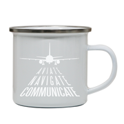Aviation quote enamel camping mug outdoor cup colors