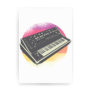 Synthesizer Retro print poster wall art decor