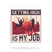 Getting High print poster wall art decor
