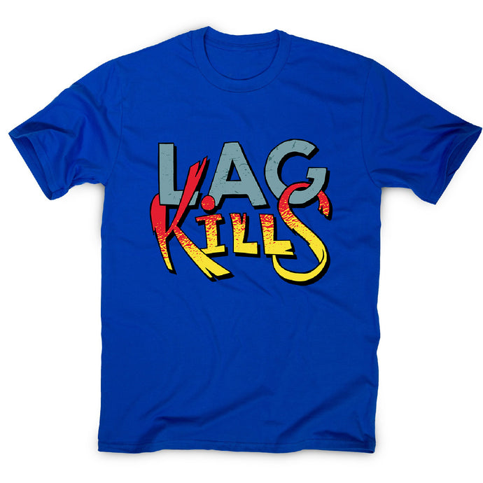 Gamer lag kills - men's funny premium t-shirt - Blue / S - Graphic Gear