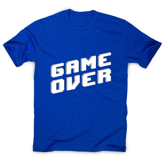 Game over - men's t-shirt - Blue / S - Graphic Gear