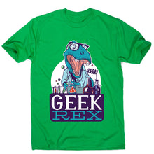Load image into Gallery viewer, Geek t-rex - men's funny premium t-shirt - Graphic Gear