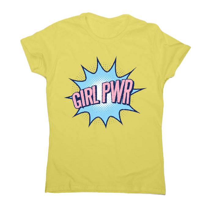 Girl power - motivational women's t-shirt - Yellow / S - Graphic Gear
