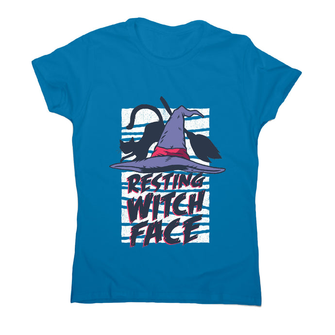 Halloween resting witch face - women's t-shirt - Sapphire / S - Graphic Gear