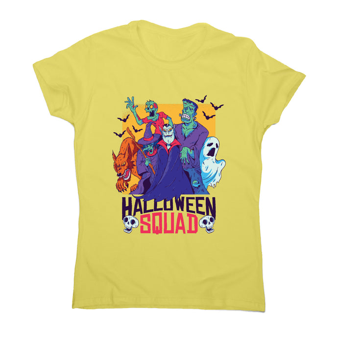 Halloween squad - women's t-shirt - Yellow / S - Graphic Gear