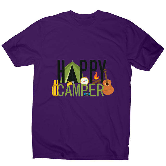 Happy camper - outdoor camping men's t-shirt - Graphic Gear