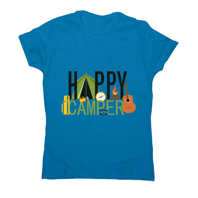 Happy camper - outdoor camping women's t-shirt - Sapphire / S - Graphic Gear