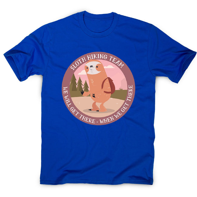 Hiking sloth - men's funny premium t-shirt - Graphic Gear