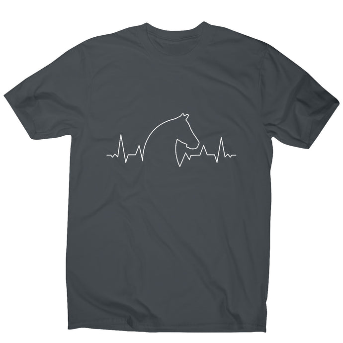 Horse heartbeat - men's t-shirt - Graphic Gear