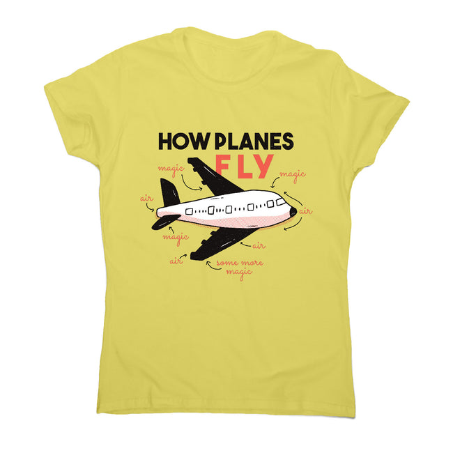 How planes fly - women's funny premium t-shirt - Graphic Gear