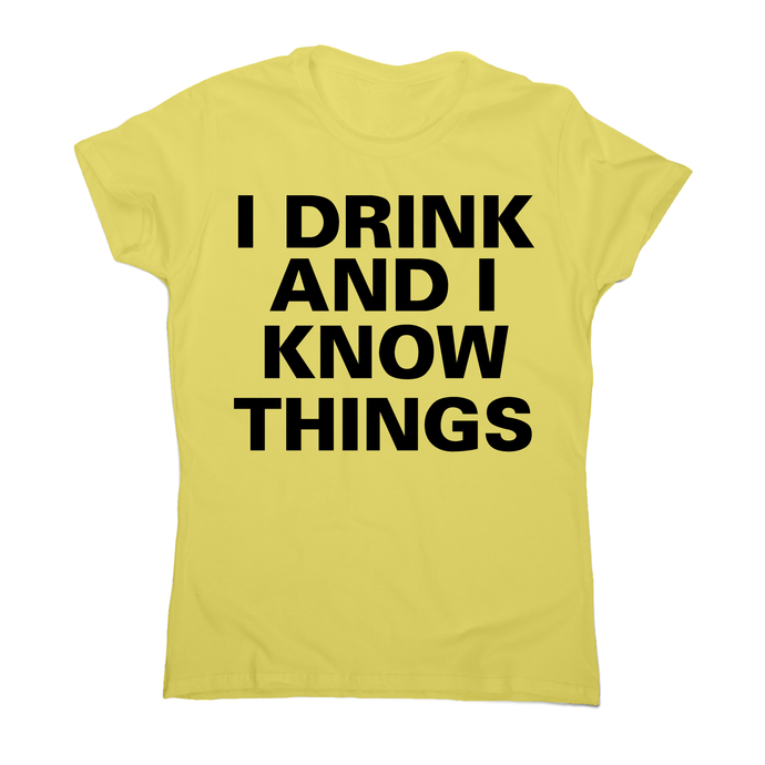 I drink and I  funny fishing t-shirt women's - Graphic Gear